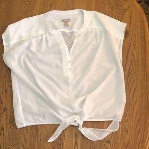Sheer tie-waist top